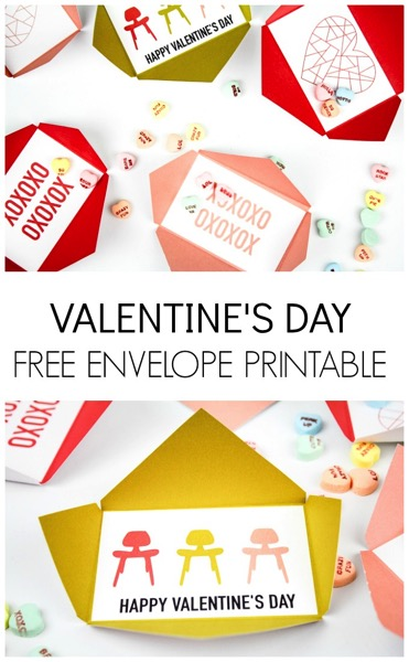 Free Printable Valentine's Day Envelopes - and 14 other cute Valentines to give this year!