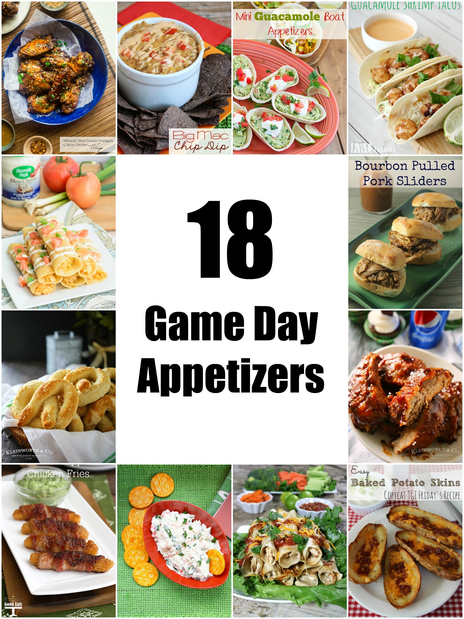 These 18 delicious game day appetizers will be a hit at any game day party!