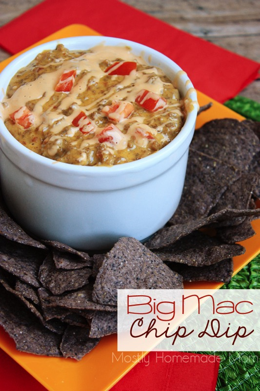 Big Mac Chip Dip - and 17 other delicious game day appetizer recipes!