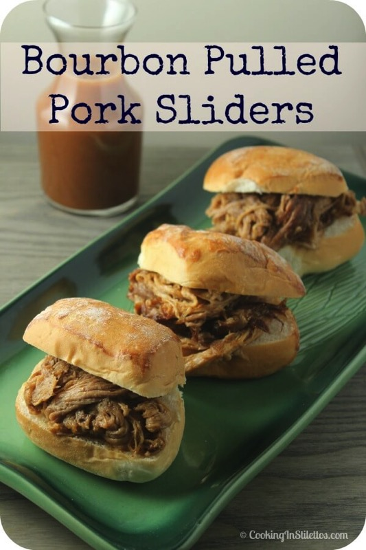 Bourbon Pulled Pork Sliders - and 17 other delicious game day appetizer recipes!