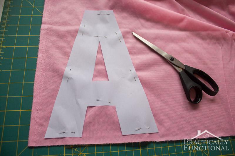 DIY Crinkle Monogram Tag Toy 2