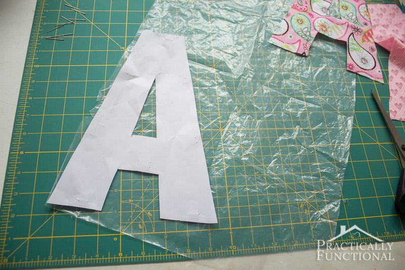DIY Crinkle Monogram Tag Toy 3