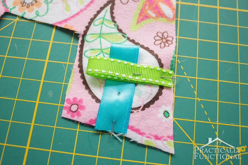DIY Crinkle Monogram Tag Toy 4
