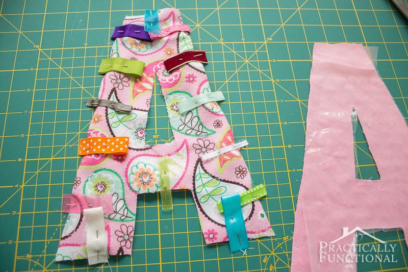 DIY Crinkle Monogram Tag Toy 5