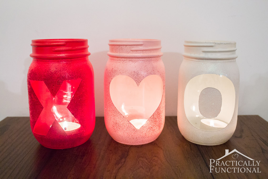 These cute glittery Valentine's Day votive candle holders are a great addition to your Valentine's Day decor, and they're so easy to make!