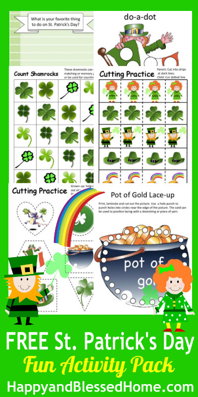 FREE St Patricks Day Printables - and 16 other fun St. Patrick's Day projects!
