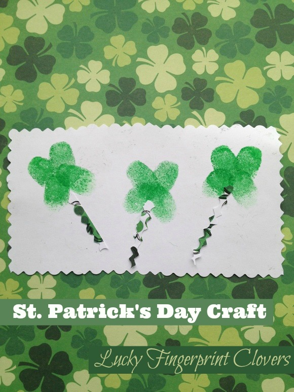 Lucky Fingerprint Clovers - and 16 other fun St. Patrick's Day projects!