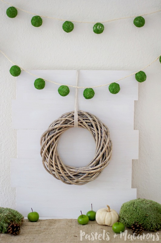 DIY faux moss ball garland - and 16 other fun St. Patrick's Day projects!