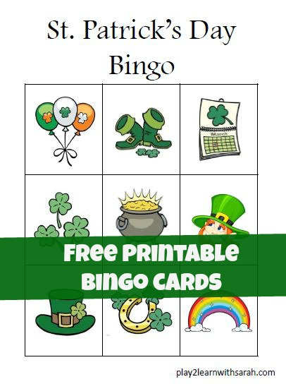 St Patricks Day Preschool Bingo - and 16 other fun St. Patrick's Day projects!