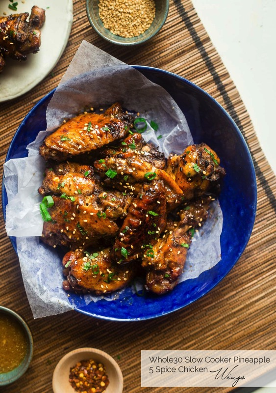 Slow cooker chicken wings with pineapple spice sauce - and 17 other delicious game day appetizer recipes!