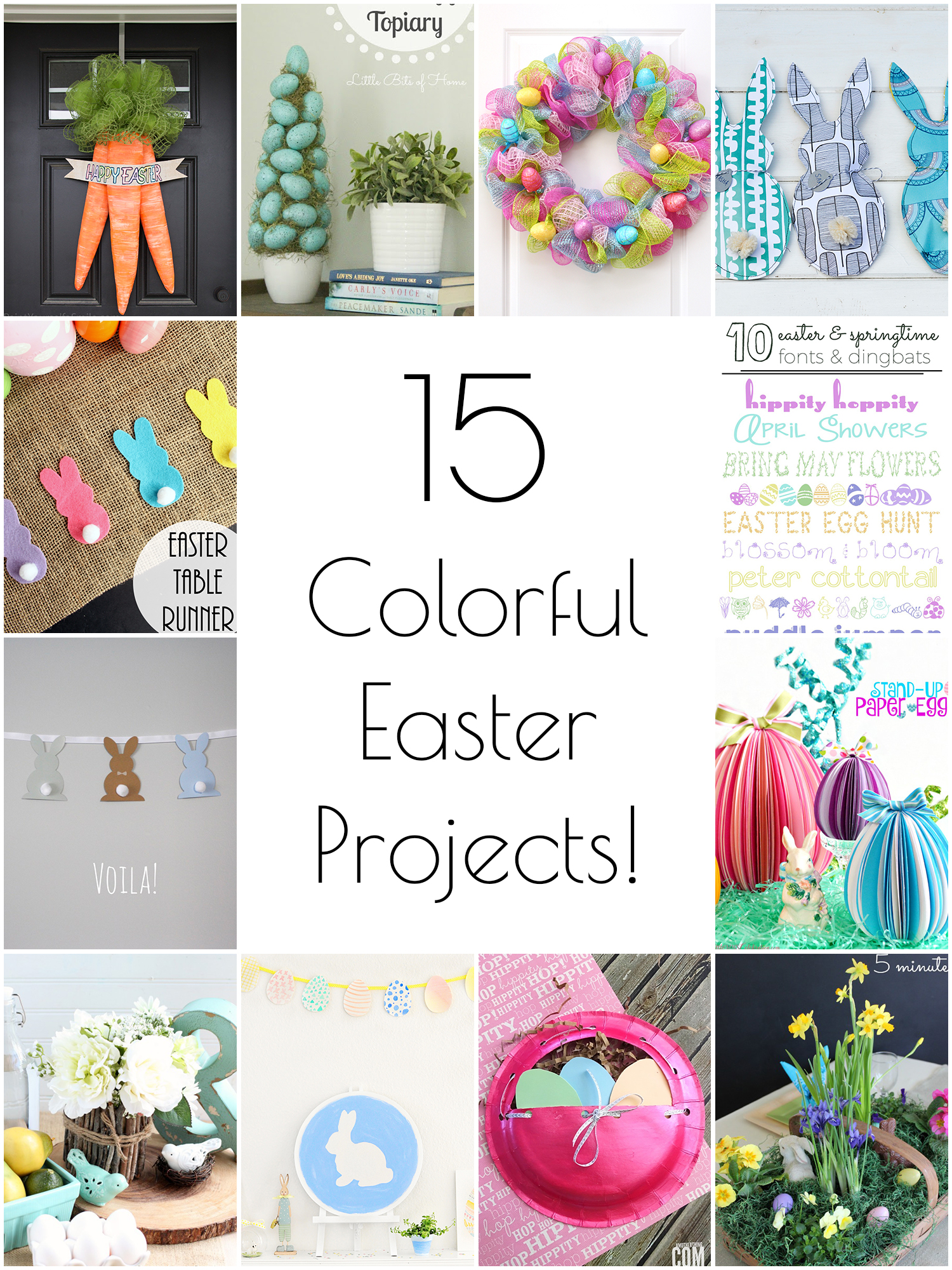 15 colorful Easter projects