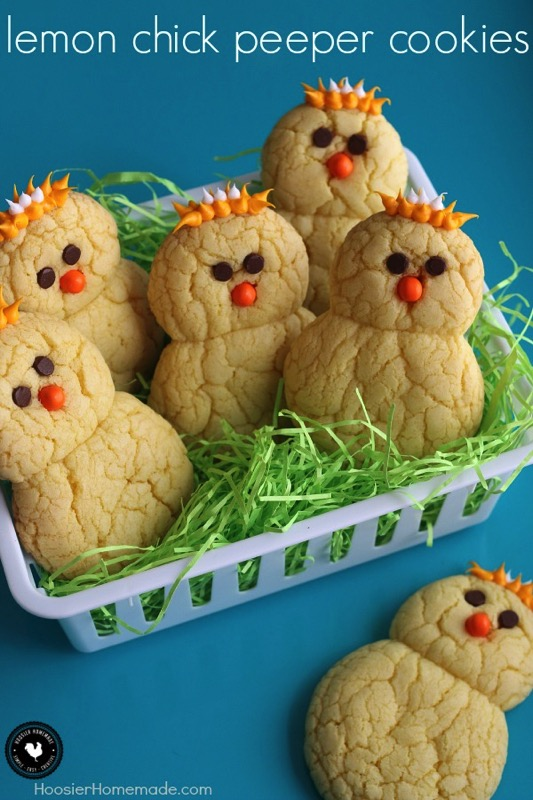 Lemon Chick Peepers Cookies - and 15 other yummy Easter desserts!