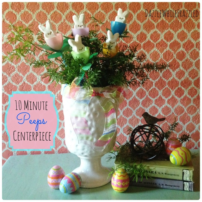 10 minute Peeps centerpiece - and 14 other awesome Easter crafts!