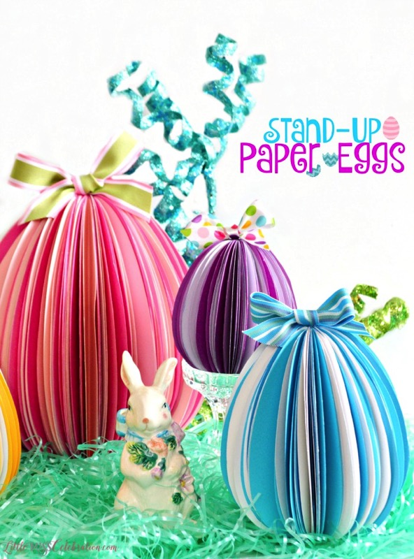 DIY stand up paper eggs - and 14 other awesome Easter crafts!