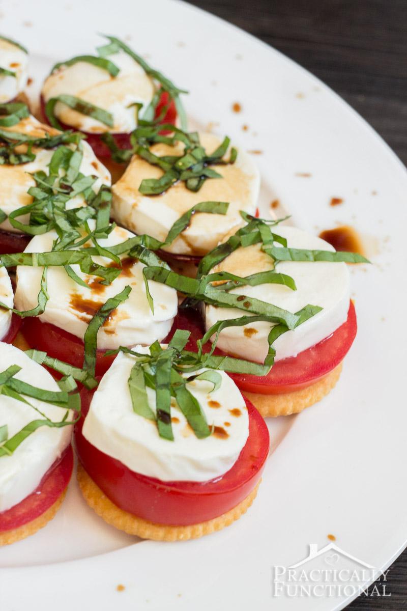 Simple snack idea: Caprese Ritzwich