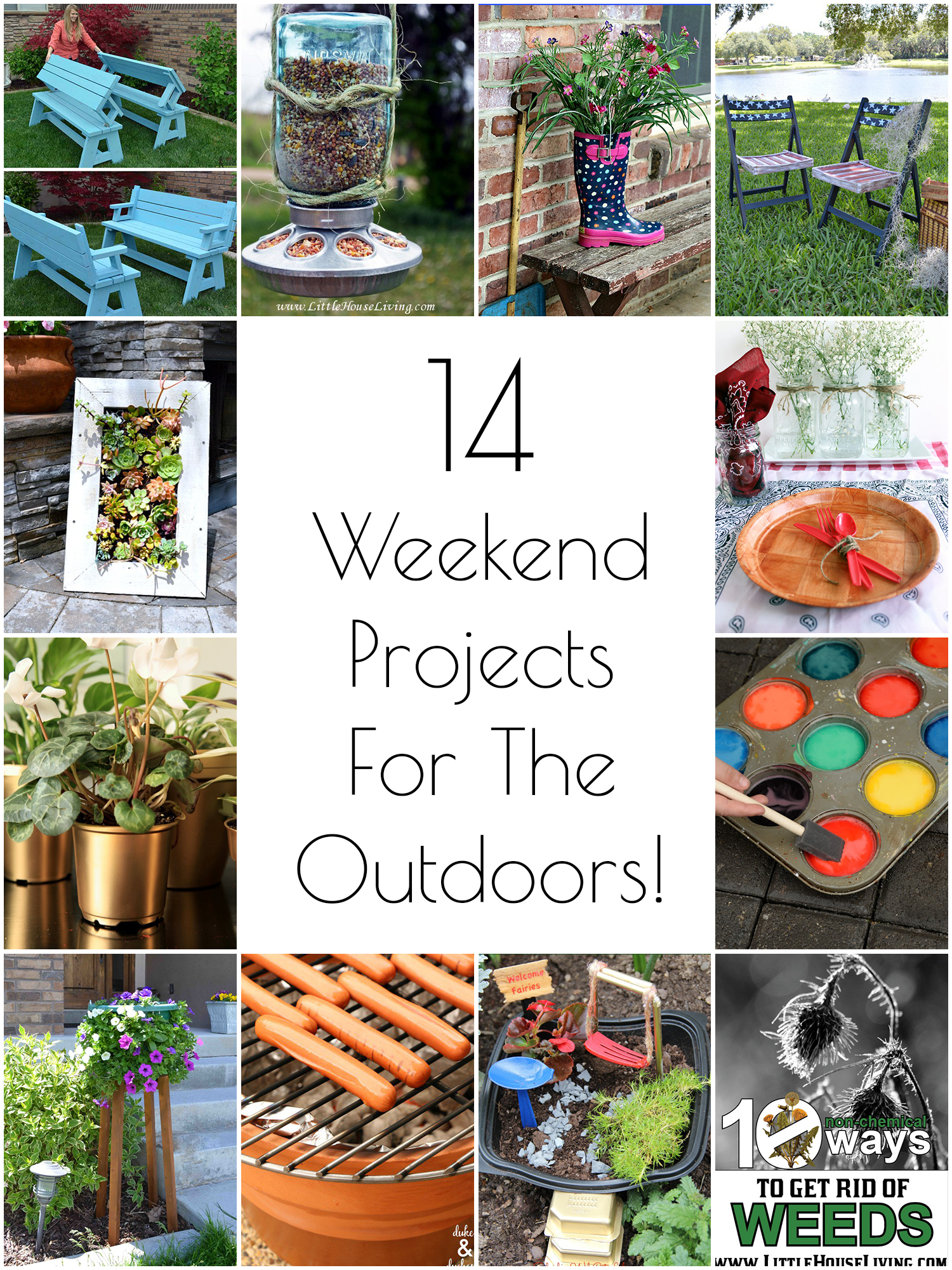 So creative 14 diy outdoor weekend projects for Project weekend