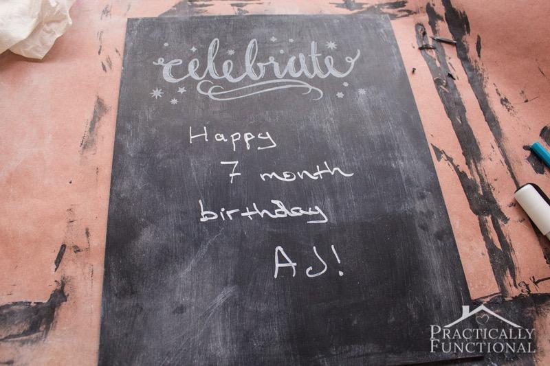 DIY Chalkboard Sign 10