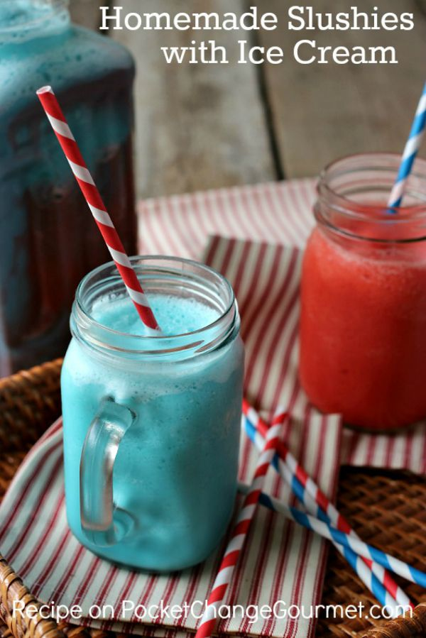 Ice Cream Slushies - and 15 other delicious summer drink recipes!