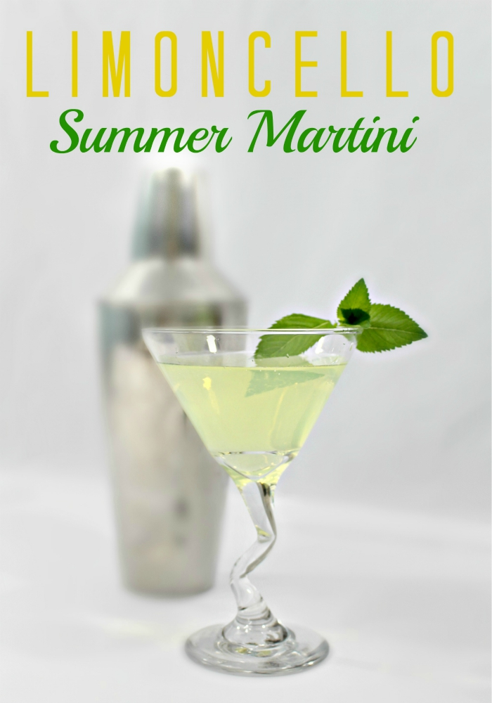 Limoncello Summer Martini - and 15 other delicious summer drink recipes!