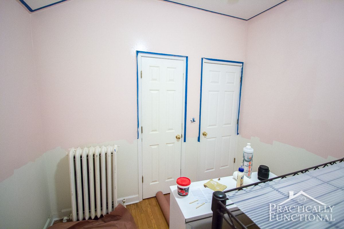 DIY Steampunk Nursery Part 1 Painting The Walls 11