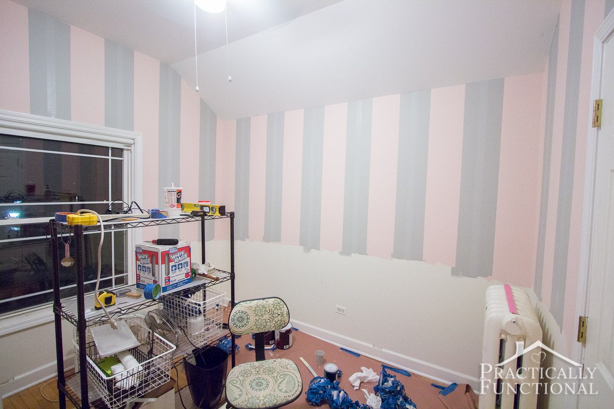 DIY Steampunk Nursery Part 1 Painting The Walls 17