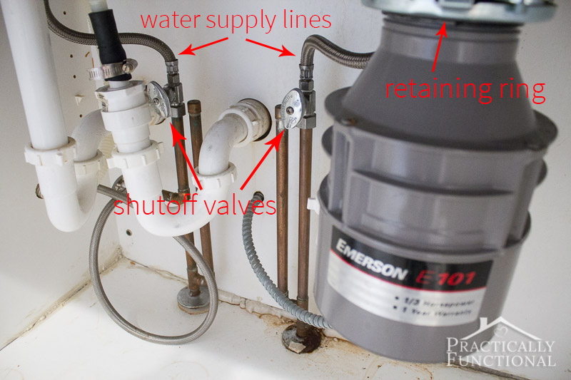 Before installing a new kitchen faucet find your water supply lines under your sink