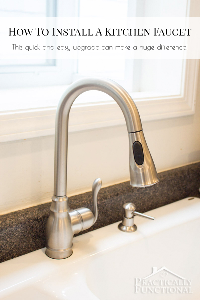 Installing a new kitchen faucet is a quick and easy upgrade that makes a big difference!