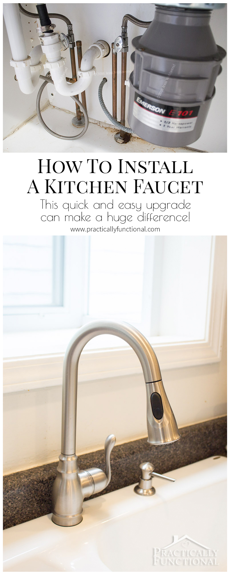 Learn how to install a kitchen faucet in under an hour!