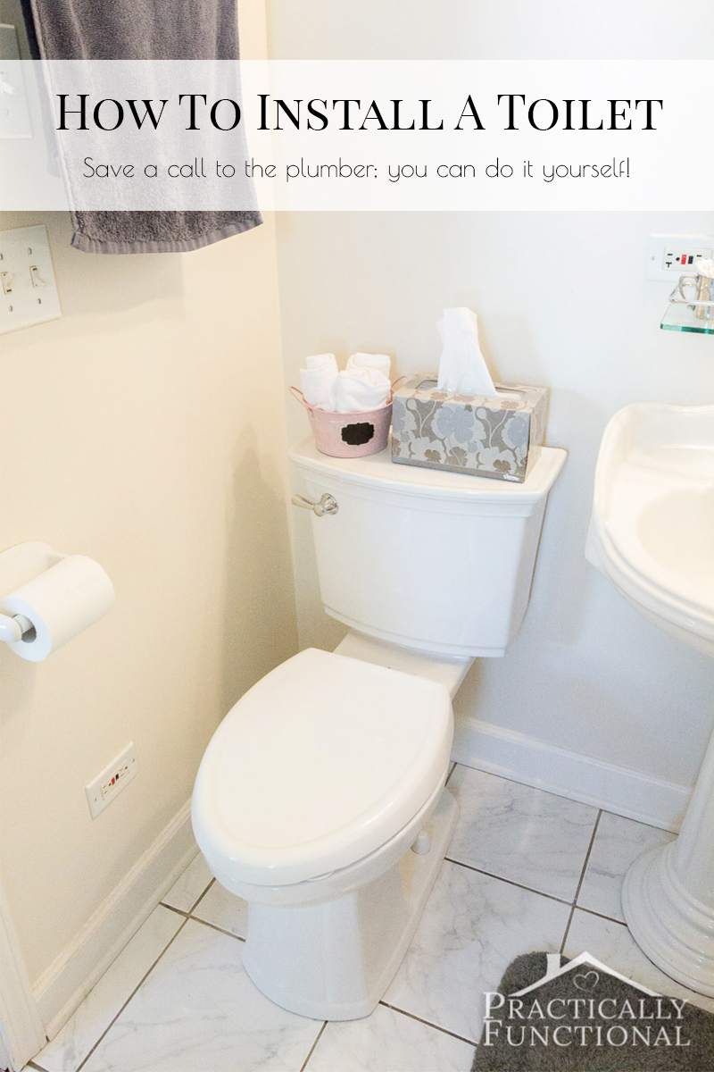 Learn how to install a toilet yourself with this tutorial, and save a call to the plumber!
