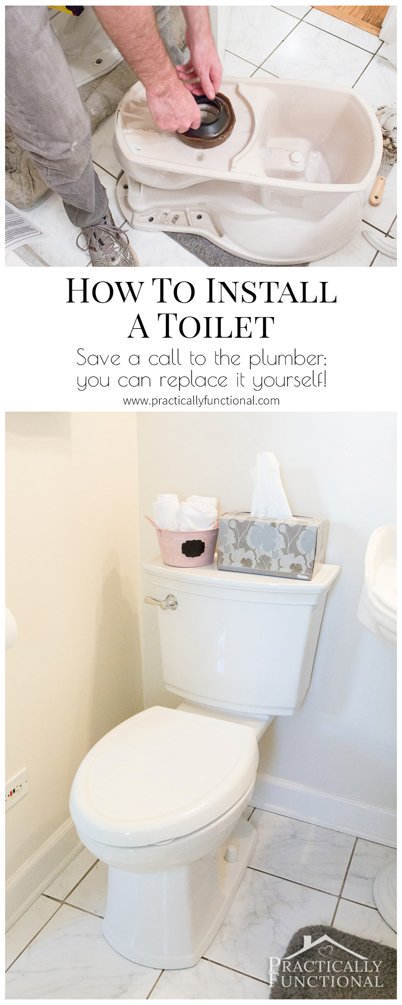Learn how to install a toilet yourself with this tutorial!