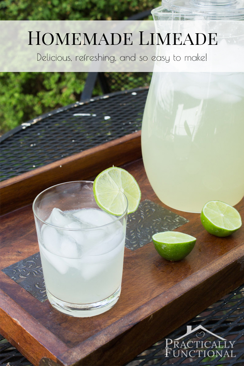 Make your own refreshing homemade limeade with just two ingredients!