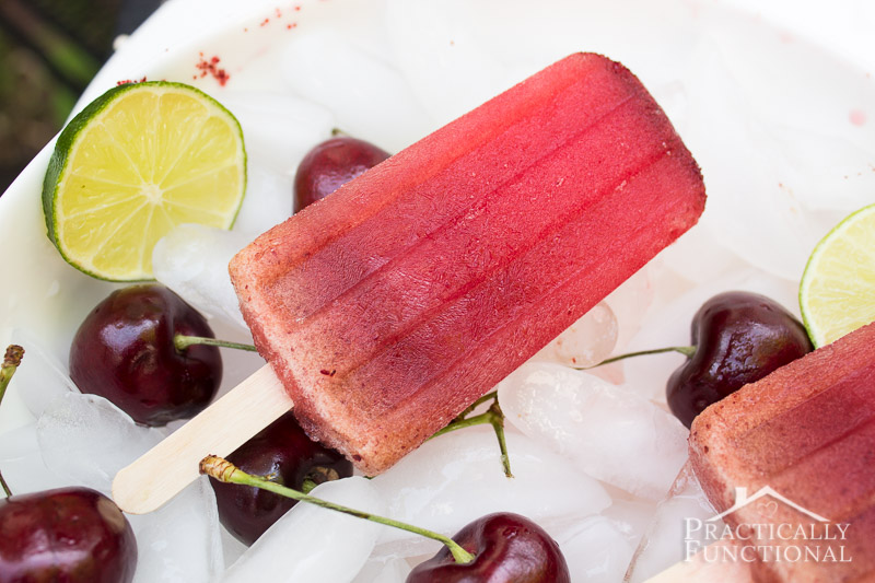 These delicious cherry limeade popsicles are so easy to make