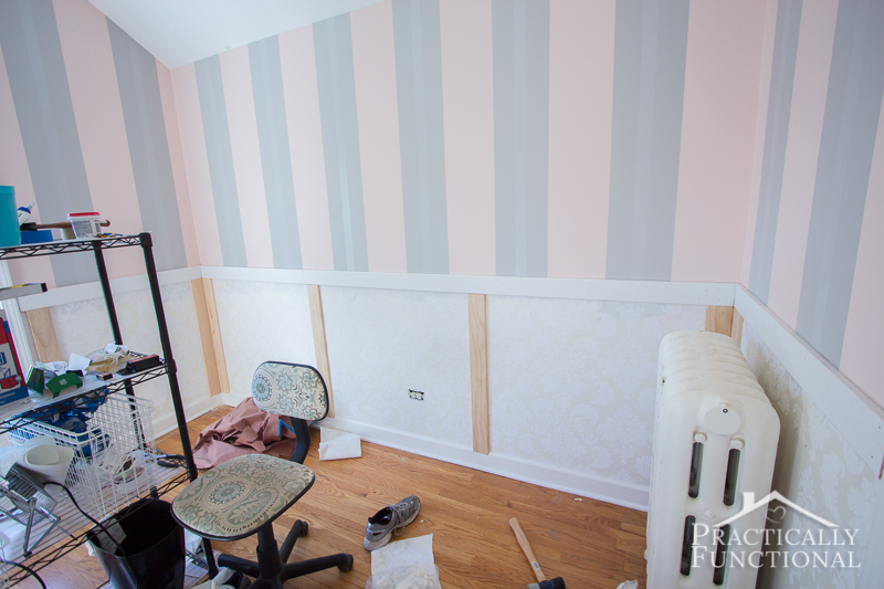 DIY Wainscoting With Textured Wallpaper on patio wallpaper, ceiling wallpaper, bookshelves wallpaper, pantry wallpaper, stucco wallpaper, room wallpaper, hardwood wallpaper, wallpaper wallpaper, paintable wallpaper, furniture wallpaper, how do i install wallpaper, mirrors wallpaper, painting wallpaper, beadboard wallpaper, lumber wallpaper, doors wallpaper, hardware wallpaper, plaster wallpaper, closet wallpaper, paint wallpaper,