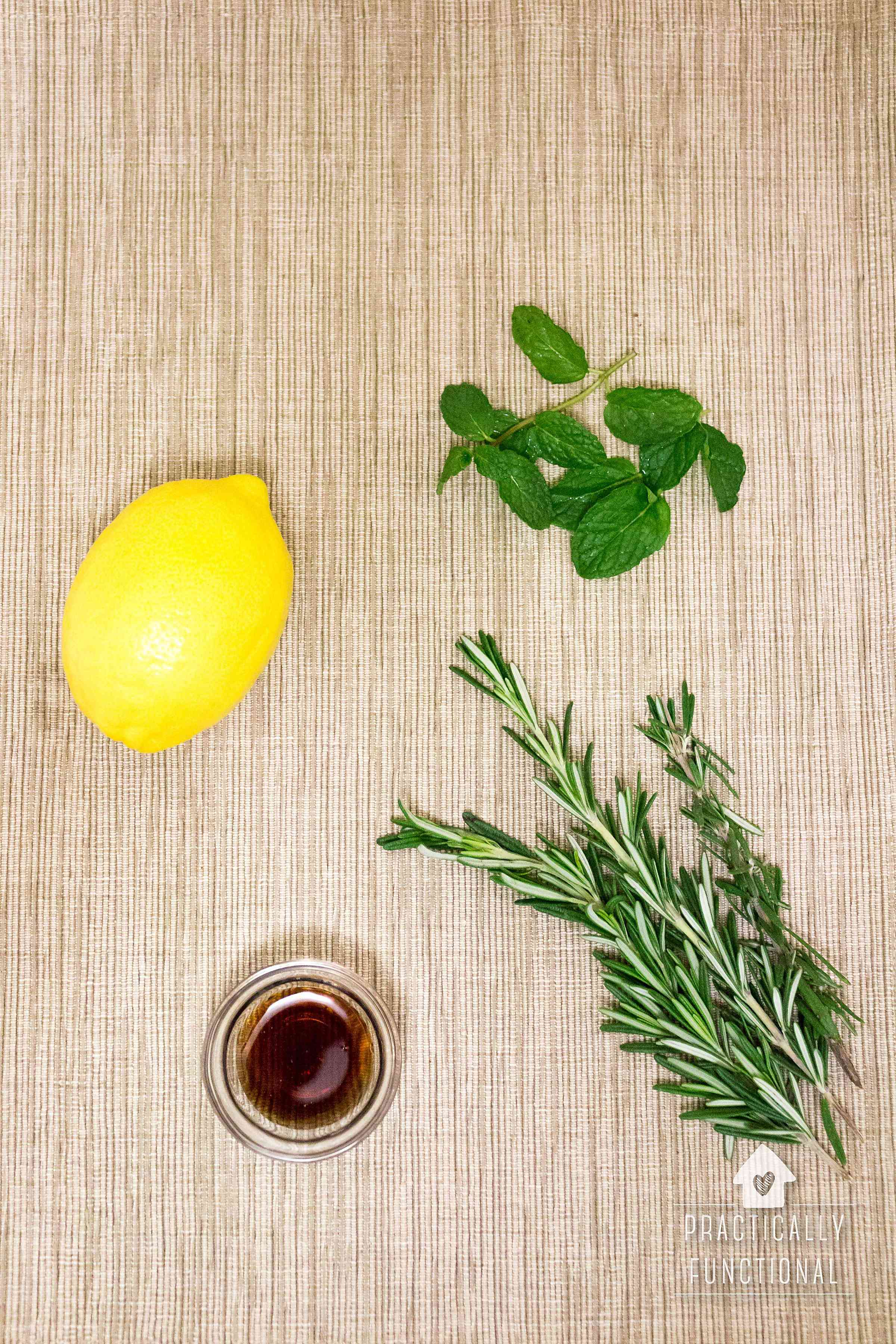 Mint, lemon, and rosemary simmer pot recipe for everyday use