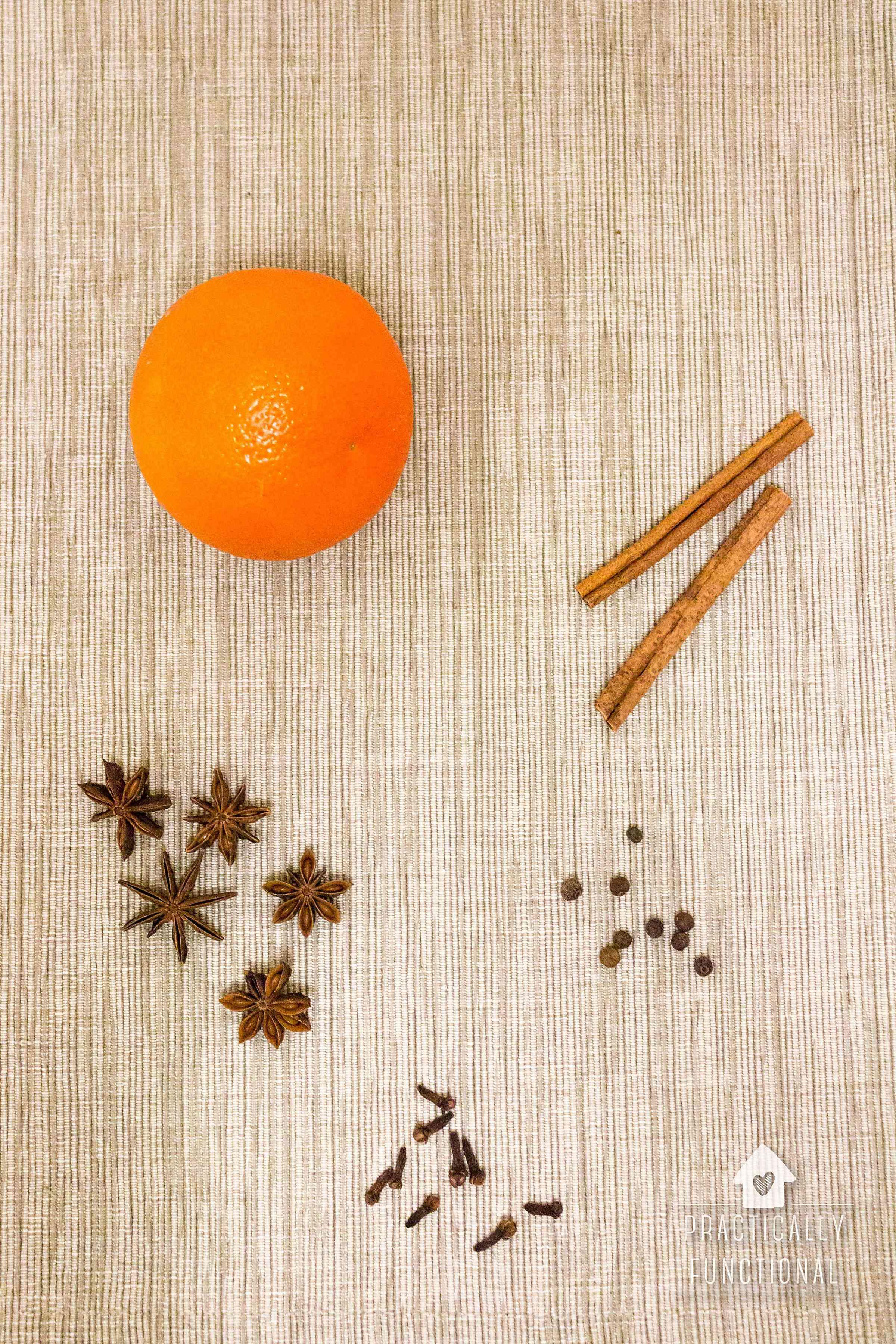 Orange and spice fall simmer pot recipe