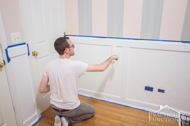 Wainscoting Wallpaper On Kitchen Cabinets