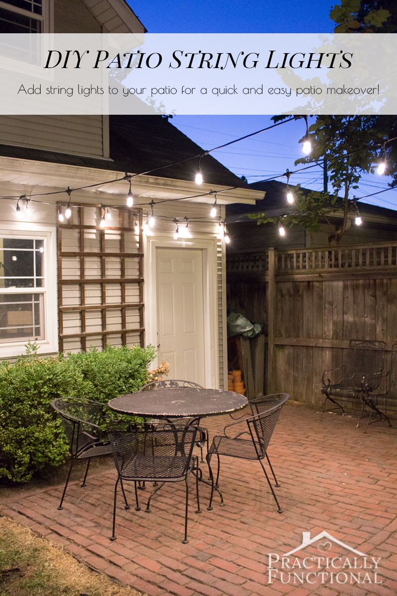 Beau Add String Lights To Your Patio For A Quick, Gorgeous, And Functional Patio  Makeover
