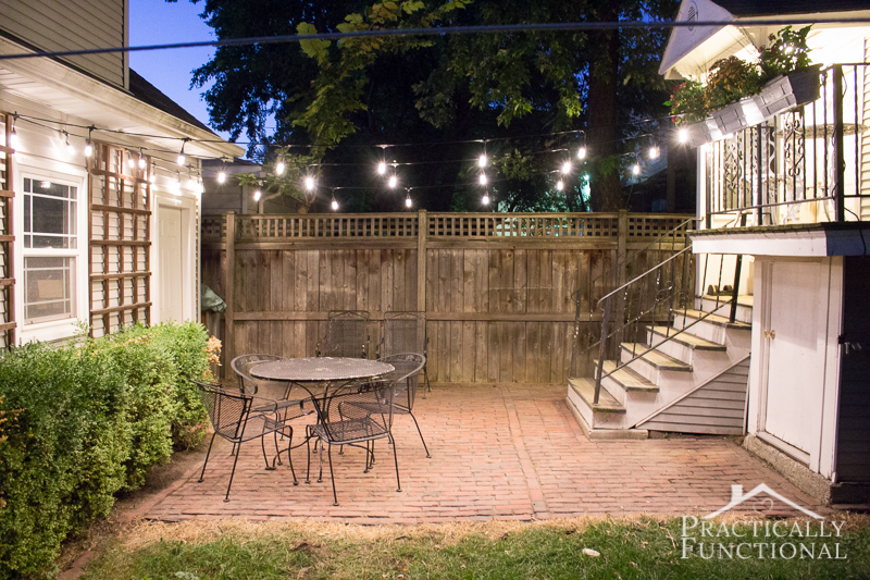 Brighten your outdoor space with string lights