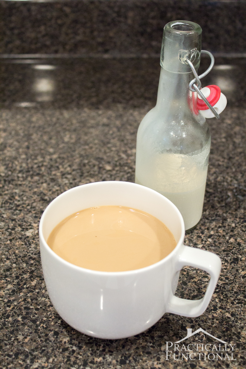 Simple homemade french vanilla coffee creamer recipe