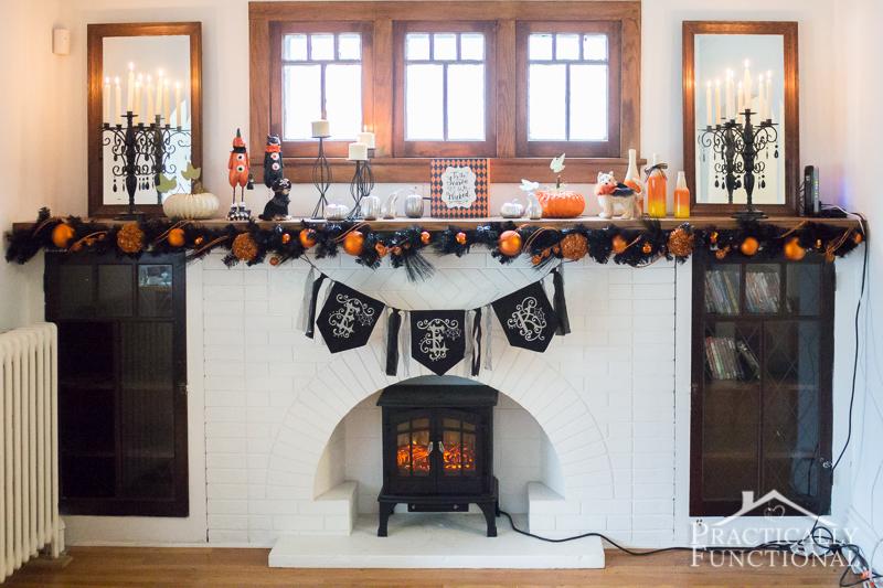 DIY Festive Halloween Mantel
