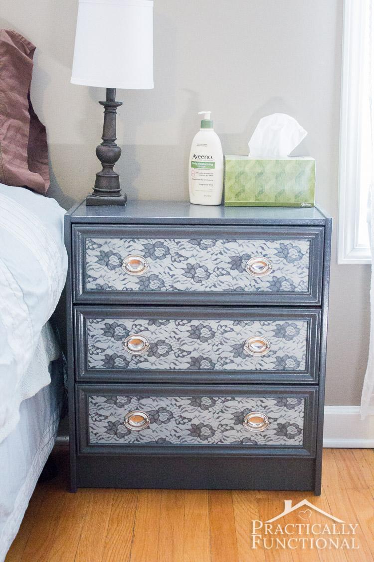 Rast IKEA Hack - Turn a Rast dresser into a gorgeous nightstand!