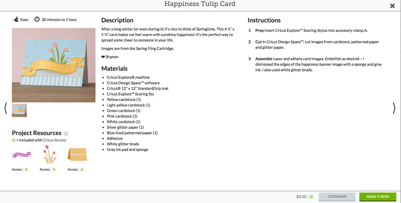 Happiness Tulip Card Make It Now project