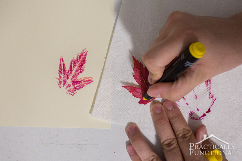 You can do more than one stamp per leaf if you use markers