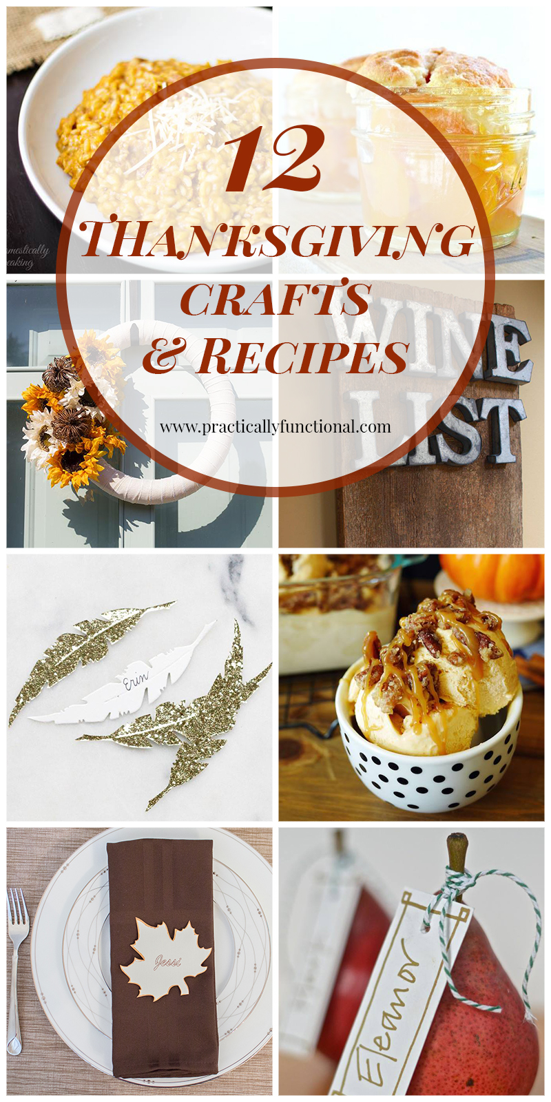 12 Thanksgiving Crafts and Recipes
