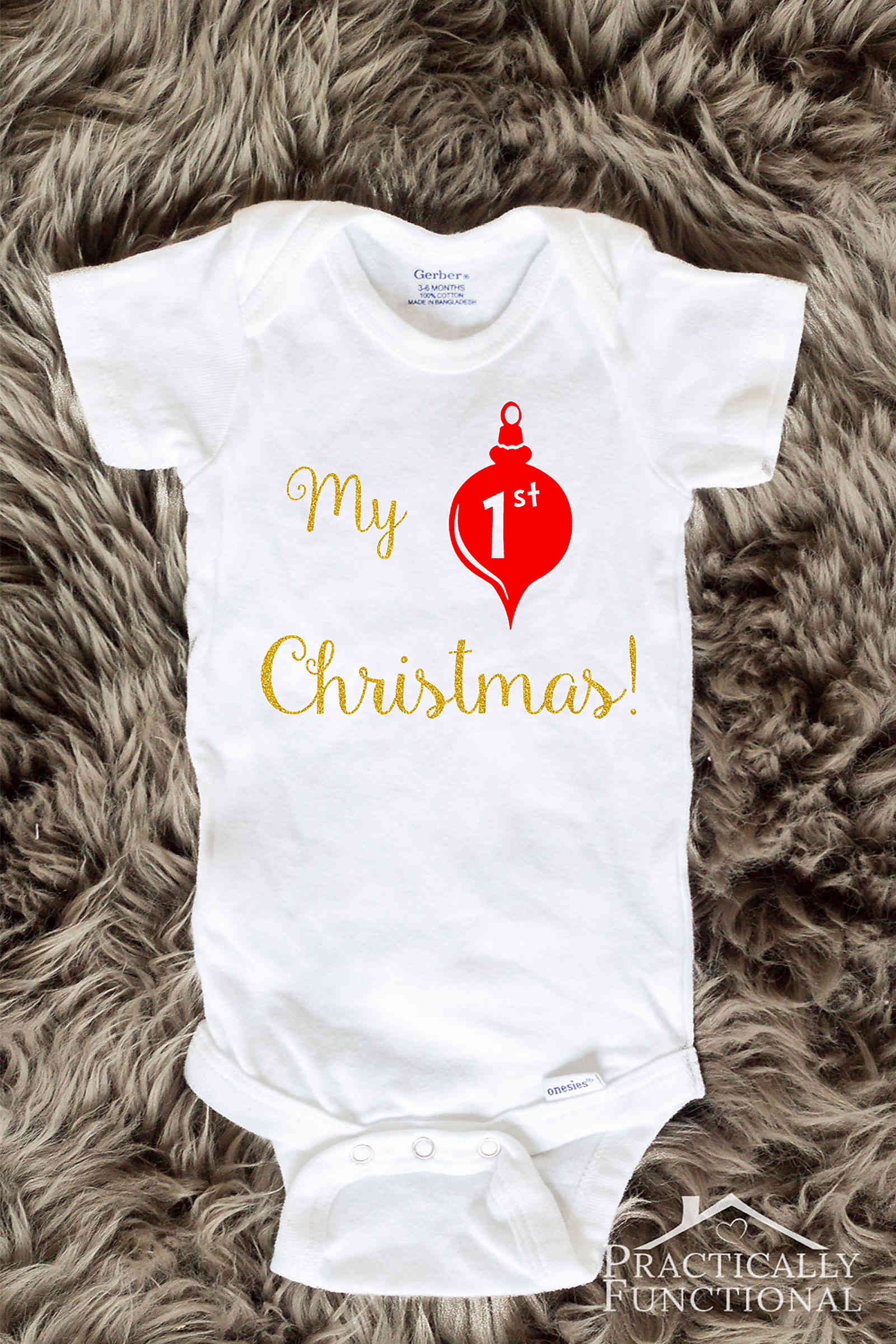 DIY My 1st Christmas Onesie