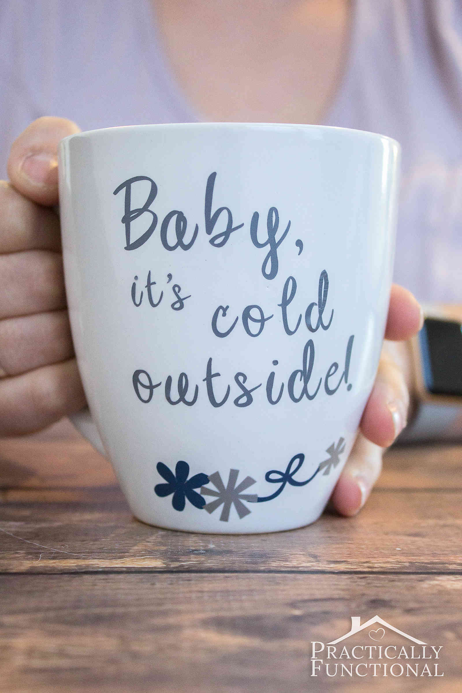 Make Your Own Mug With Vinyl And A Cricut Explore Air Practically Functional