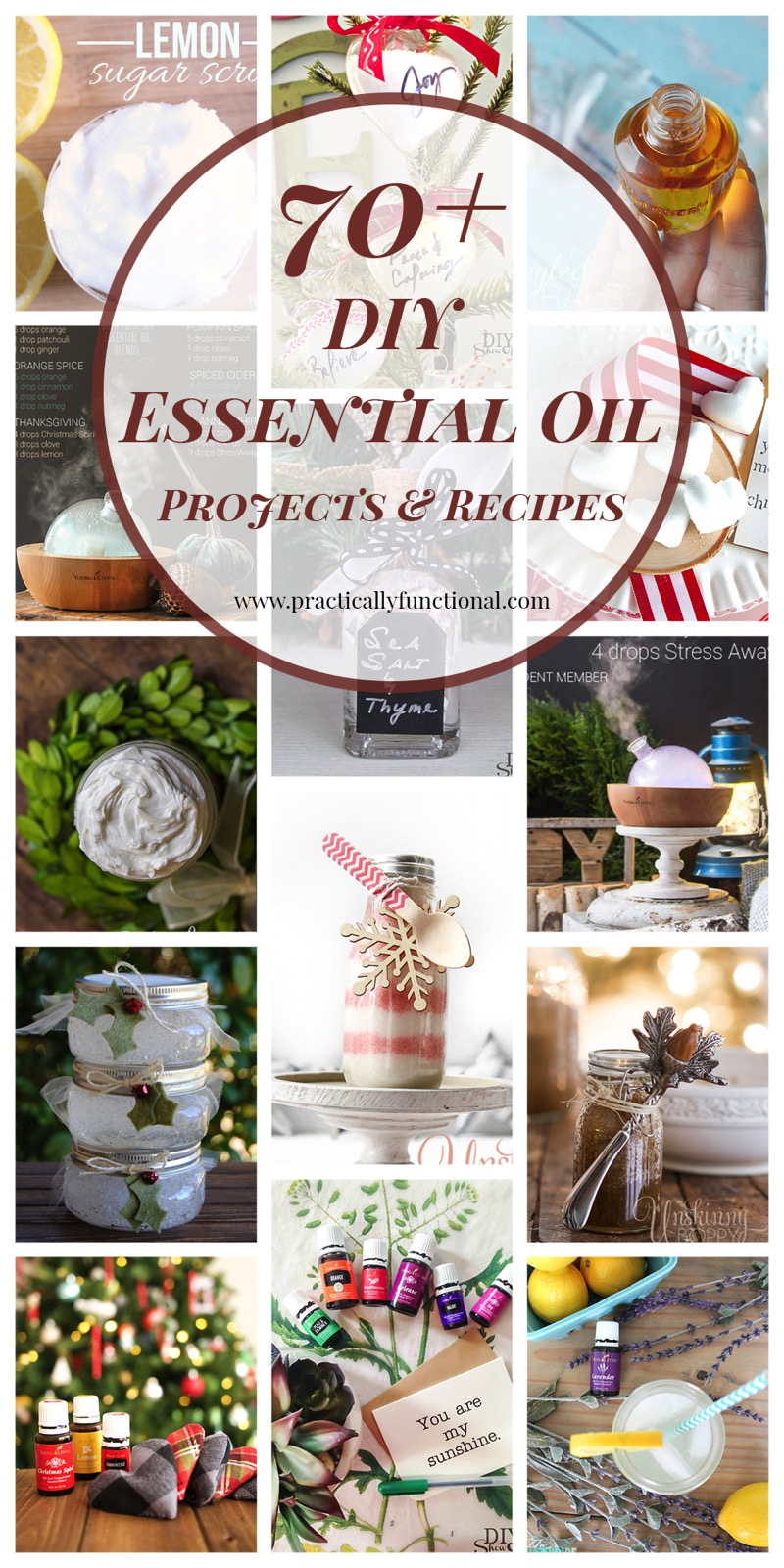 Over 70 DIY essential oil projects and recipes, great hostess gifts!