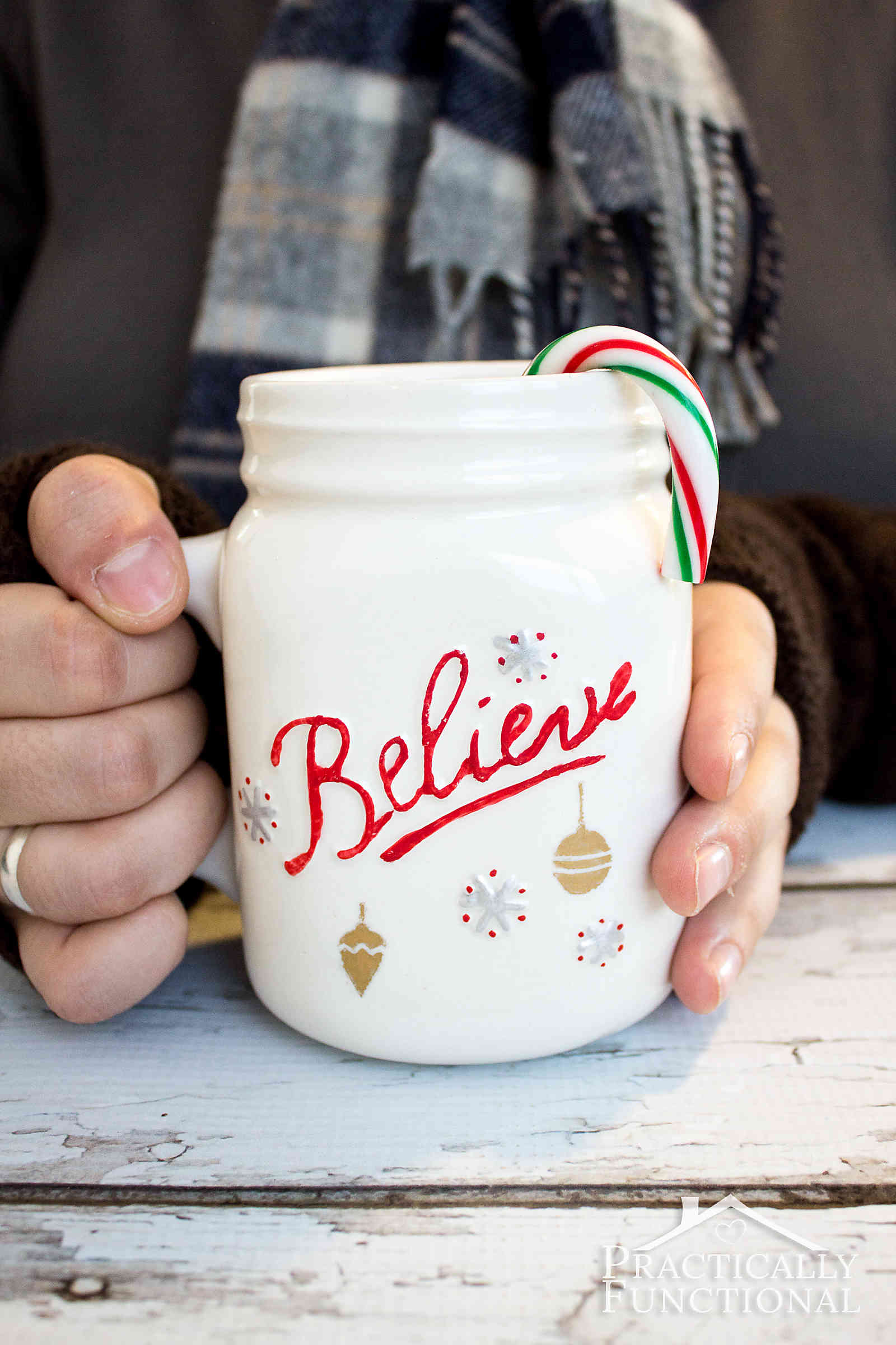 Simple Diy Painted Mug For The Holidays