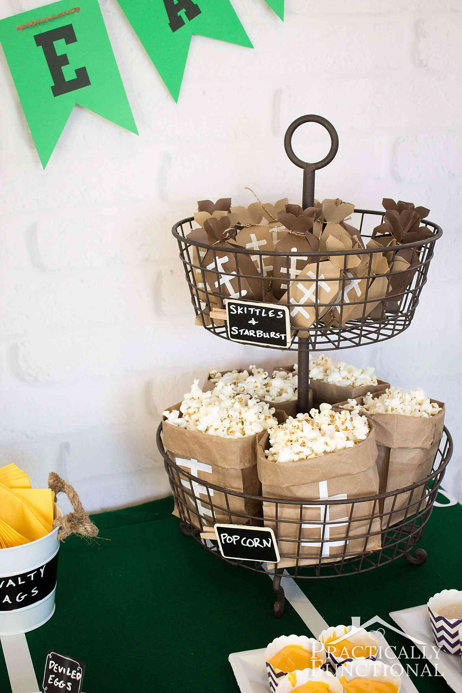 ideas super football party food decorations bowl pin decor more