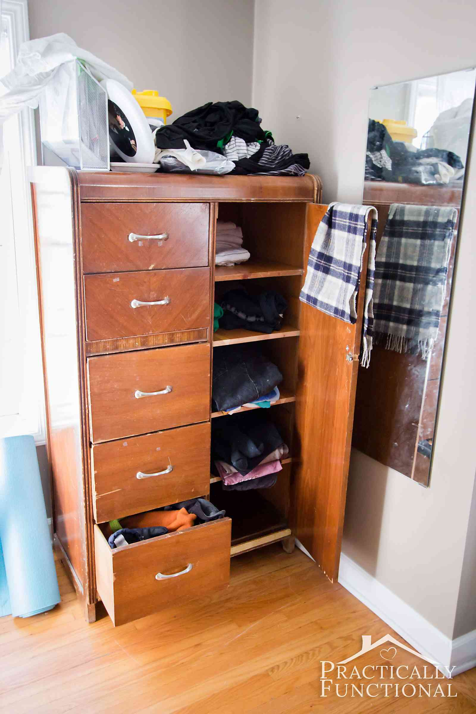 His and hers master closet makeover for His and hers wardrobe